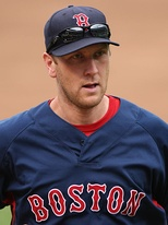 Jason Bay in 2009 with the Boston Red Sox