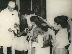 Nehru with schoolchildren at the Durgapur Steel Plant. Durgapur, Rourkela and Bhilai were three integrated steel plants set up under India's Second Five-Year Plan in the late 1950s.
