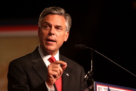 Huntsman speaking at a political conference in Orlando, Florida