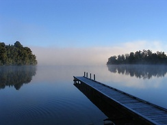 Lake Mapourika, New Zealand