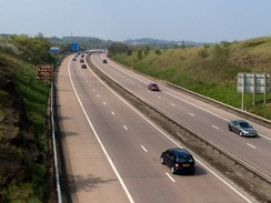 The M54 Motorway runs through the east of the county, as far as Wellington.