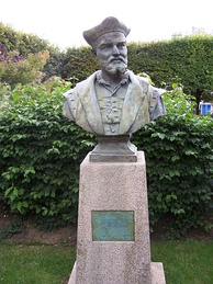 Bust of Rabelais in Meudon, where he served as Curé