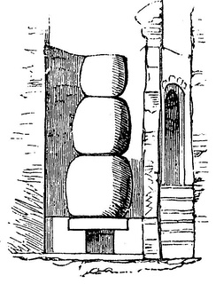 A three-tiered water boiler (miliarium)