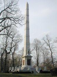 Monument near the battle site