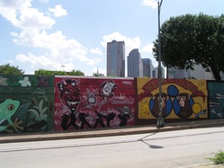 Murals along the Good Latimer Tunnel