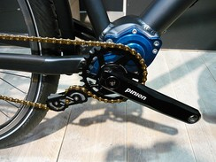 A bicycle gearbox with chain tensioner