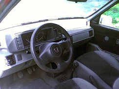 Revised interior of an export Rover 100