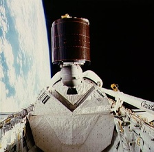 Aussat 1 (now Optus A1) on deployment from Space Shuttle Discovery on STS-51-I