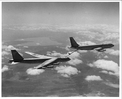 B-52G refueling from a KC-135A