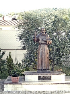 A sculpture of Padre Pio in Italy raised in October 2006