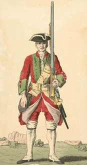 Gooch's Marines, 43rd regiment of foot from the Cloathing Book of 1740