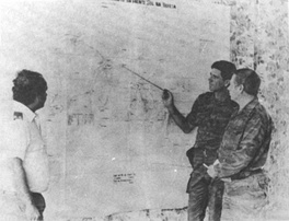 Soviet military advisers planning FAPLA operations in southern Angola.