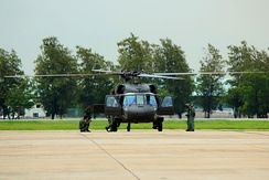 UH-60L Black Hawk during air show at Don Mueang Air Force Base