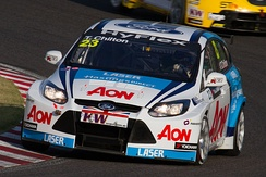 Chilton driving for Team Aon at the 2012 FIA WTCC Race of Japan.