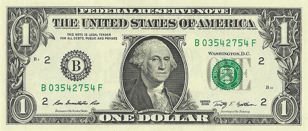 Obverse of the $1 bill
