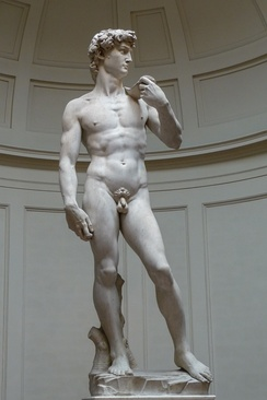 The Statue of David, completed by Michelangelo in 1504, is one of the most renowned works of the Renaissance.