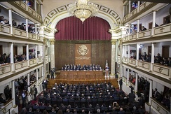 Commemoration of the 100 year anniversary of the Constitution at the  Teatro de la República, Santiago de Querétaro on 5 February 2017.