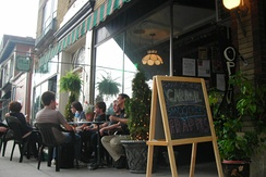A cafe on 19th Street, in Allentown's West End, 2007.
