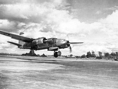 410th Bombardment Group A-20 taking off