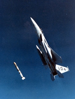 Test launch of the ASM-135 ASAT missile.