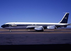 Conway-powered BOAC 707-436 at Sydney Airport in 1970