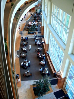 The interior of the Baylor Sciences Building