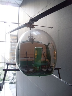 The Bell 47 is displayed at the MoMA