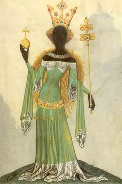 The Queen of Sheba, from a 15th-century manuscript now at Staats- und Universitätsbibliothek Göttingen