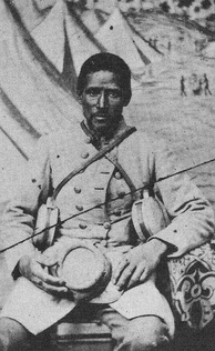"""Marlboro"", an African-American bodyservant to a white Confederate soldier."