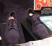 Shoes in Elvis exhibit similar to those that inspired the song