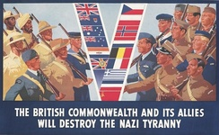 A British poster from 1941, promoting the greater alliance against Germany
