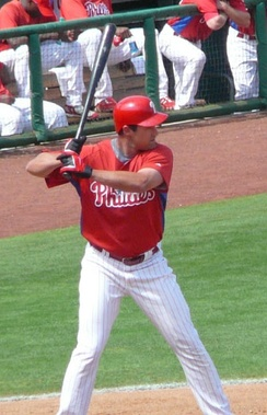 Burrell batting for the Phillies in 2007