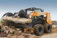 CASE SR210 skid steer loader.