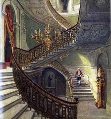 The main staircase, from Pyne's Royal Residences (1819)