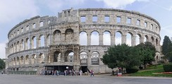 The 1st century-built Pula Arena was the sixth largest amphitheatre in the Roman Empire