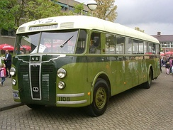 Preserved Crossley SD42/1 bus with aluminium Schelde bodywork, built shortly after the World War II for the Dutch public transport network.