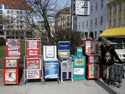 Newspaper vending machines in Munich, Germany