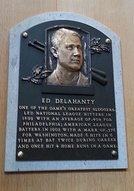 Delahanty's plaque at the Baseball Hall of Fame