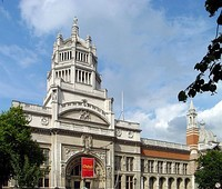 Cromwell Gardens Facade, Victoria and Albert Museum, South Kensington, London