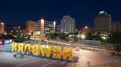 The Newborn monument in Pristina has been unveiled at the celebration of the Independence of Kosovo.