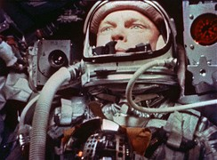 John Glenn, the first American in orbit, 1962