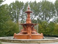 The Hubert Fountain in Victoria Park, Ashford, Kent, was an exhibit at the International Exhibition.
