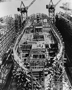 Day 10 : Lower deck being completed and the upper deck amidship erected