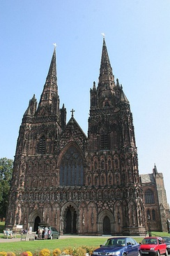 Lichfield Cathedral in modern times.