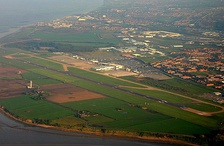 Aerial view of Liverpool John Lennon Airport