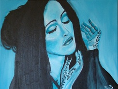 "A painting inspired by Madonna's look on the music video of ""Frozen"". The released of Ray of Light increased the popularity of traditional Asian culture in American popular culture."