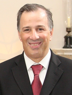 Foreign Minister José Antonio Meade at UK Foreign Office meeting, London, February 2015.
