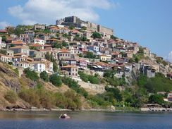 View to the fortress (Castle of Molyvos)