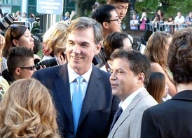 Beane (left) at the 2011 Toronto International Film Festival