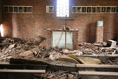 Over 5,000 people seeking refuge in Ntarama church were killed by grenade, machete, rifle, or burnt alive.